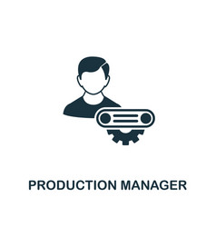 Production manager icon creative element design vector