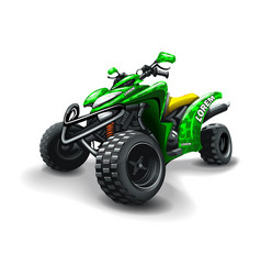 quad bike with camouflage stains on white vector image