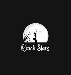reach stars vector image