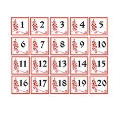 Russian number cards vector