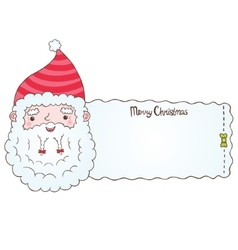 Santa Claus and Christmas banner vector image