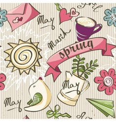 seamless texture - color spring doodles vector image