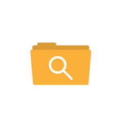 search folder icon design template isolated vector image