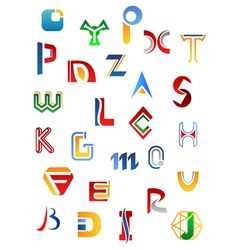 Set full alphabet symbols vector