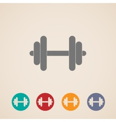 set of dumbbell icons vector image