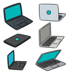 Set of laptop vector