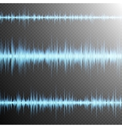 Sound wave on Transparent background EPS 10 vector