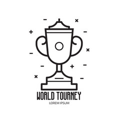 Sport trophy cup icon vector