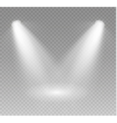 spotlight light scene vector image