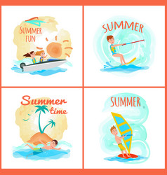 summer fun and time collection vector image