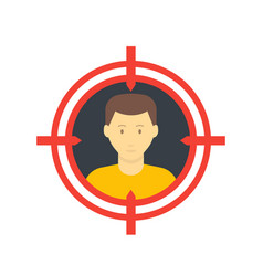target audience icon flat style vector image