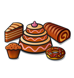 Tart and cakes vector