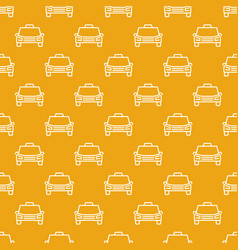 taxi car pattern cab concept seamless vector image