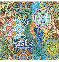 Traditional arabian arabesque tiles wallpaper vector