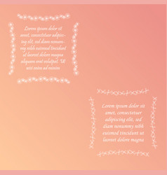 Two square shaped floral frames with sample text vector