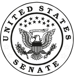 Usa senate badge federal vector