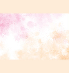 watercolor splash pink and gold background vector image