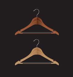 wooden coat hanger vector image