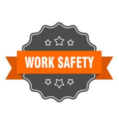 Work safety isolated seal work safety orange vector