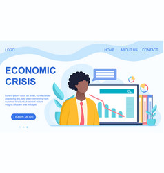 world financial crisis and bankruptcy concept vector image