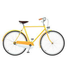 Yellow bicycle vector