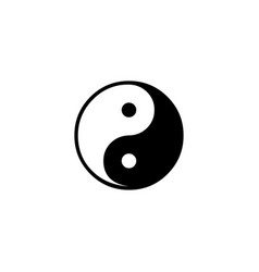 yin and yang icon in flat style for apps ui vector image