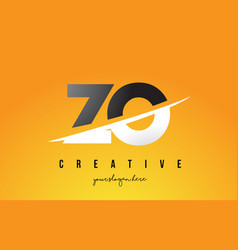 zo z o letter modern logo design with yellow vector image