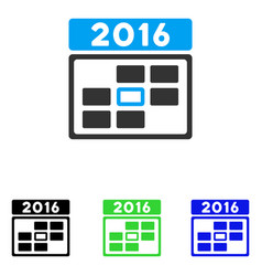 2016 date flat icon vector