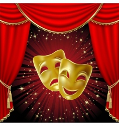 comedy tragedy mask vector image