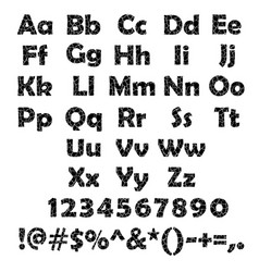 Cracked alphabet set vector