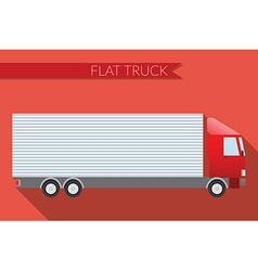 Flat design city Transportation truck for vector image vector image