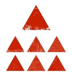 Grunge triangle set vector image