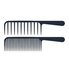 Professional comb icons barbershop vector image vector image