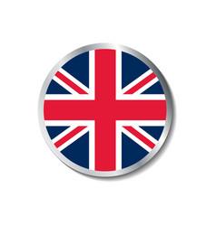 United kingdom flag badge vector