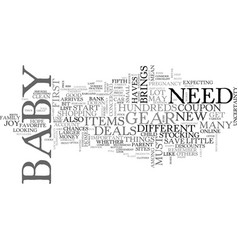 A new baby can be expensive text word cloud vector