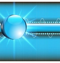 background with glass ball vector image vector image