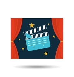 concept cinema theater clapper graphic design vector image vector image