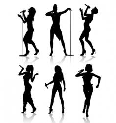 female singers vector image