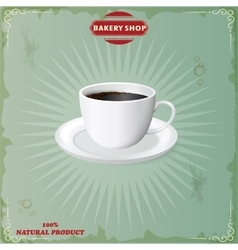 menu for coffee in vintage vector image