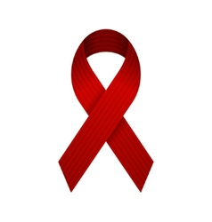 Red AIDS Ribbon Icon vector image