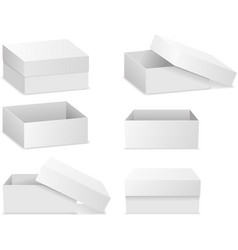Square flat boxes isolated on white vector image