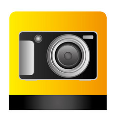 digital professional camera icon vector image