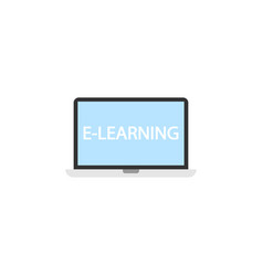e-learning flat icon education and school element vector image vector image
