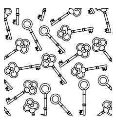 figure old keys icon stock vector image