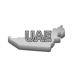 Map of uae icon black monochrome style vector
