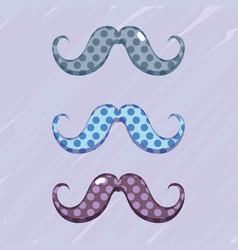 Set diferent mustache decoration design vector
