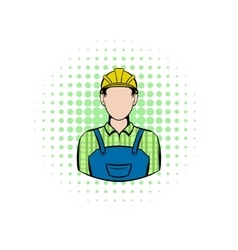 Worker comics icon vector image vector image