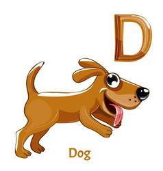 alphabet letter d dog vector image