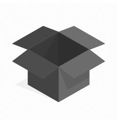 Black square cardboard box vector image vector image
