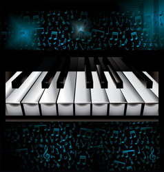 music piano background vector image vector image